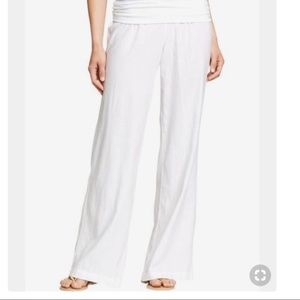Old Navy White Wide Leg Linen Pants